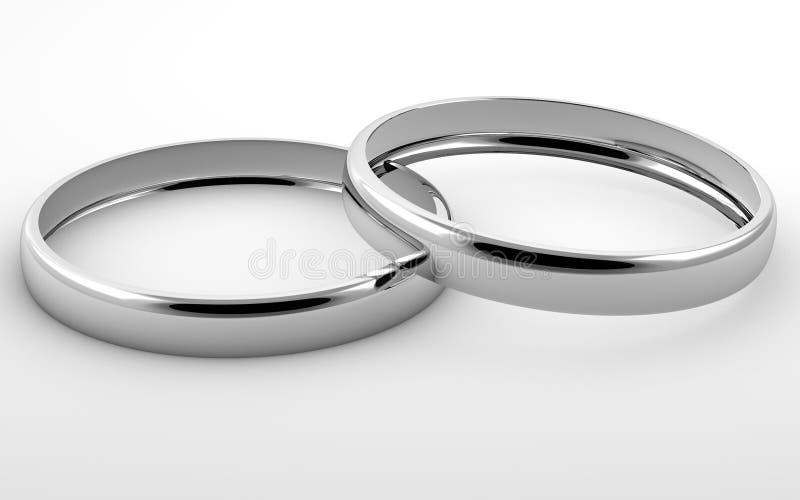 pierścionki osrebrzają dwa zdjęcie stock