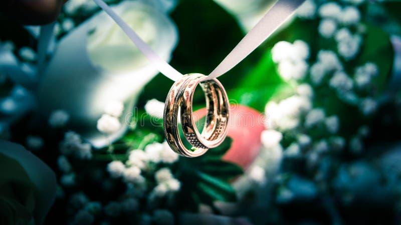 Pierścionki zaręczynowi fotografia stock