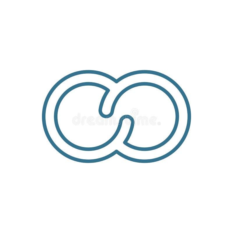 Pierścionku konturu ikona ilustracja wektor