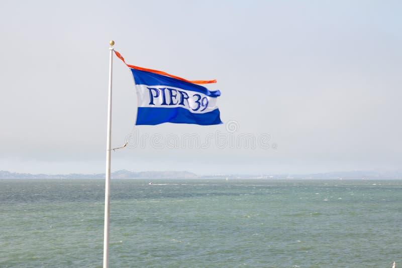 Download Pier 39 Flag In San Francisco Stock Image - Image of destination, wave: 26060193