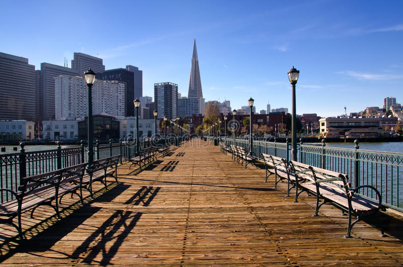 Download Pier 7 San Francisco stock photo. Image of seven, sunny - 28499444