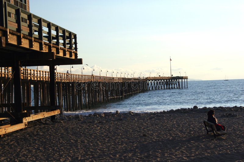 Download Pier Afternoon stock image. Image of california, sand, afternoon - 55251