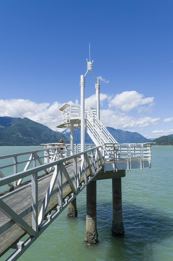 Free Pier At Porteau Cove Provincial Park In British Columbia Stock Photography - 181633282