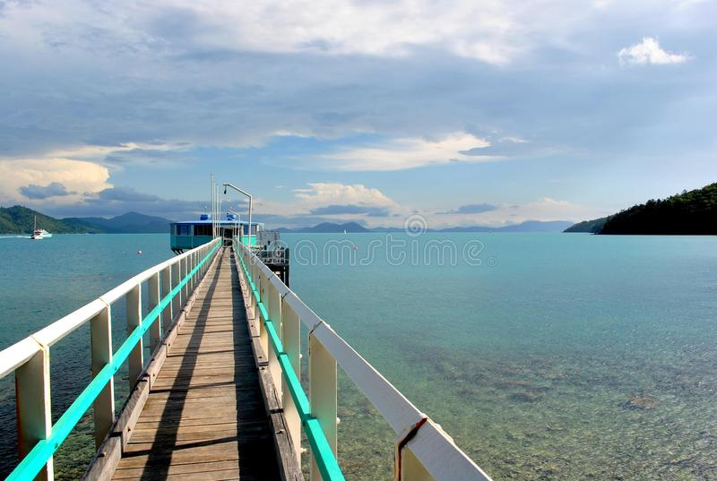 Pier Australiens in den whitsundays stockbilder