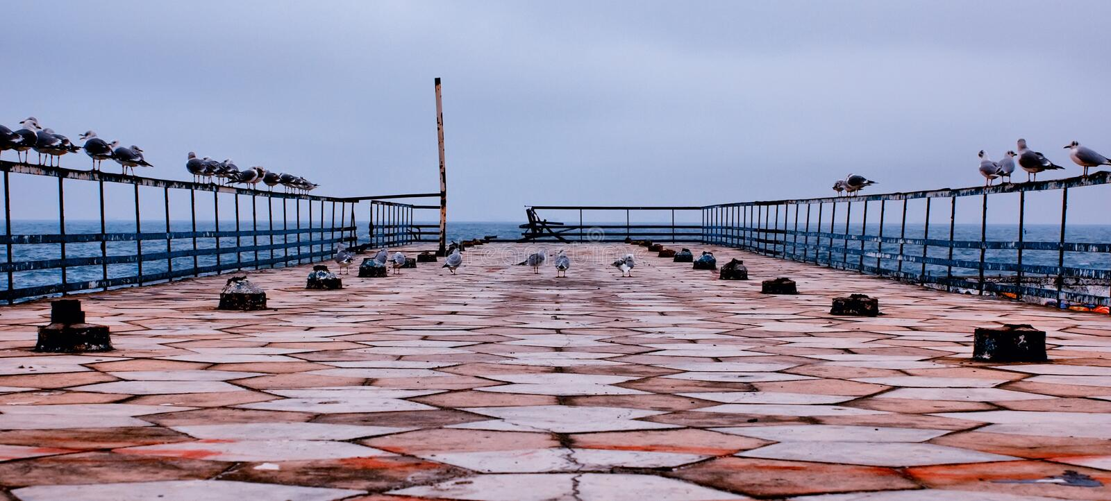 Pier B royalty free stock photography