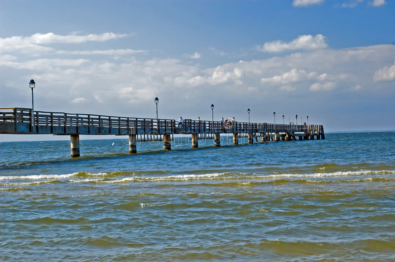 Download Pier Baltic sea stock image. Image of nature, sunny, german - 6075377