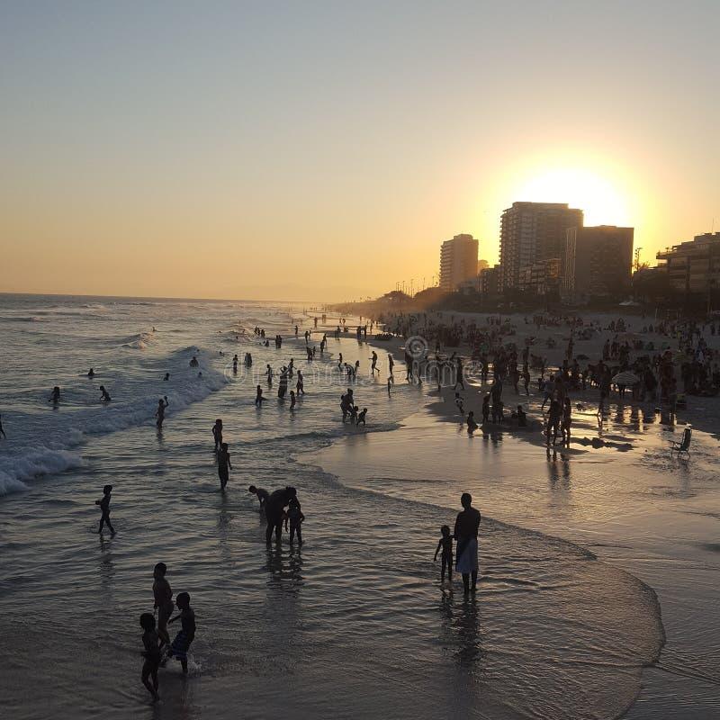 Pier Barra da Tijuca, Rio de Janeiro RJ royalty free stock photo
