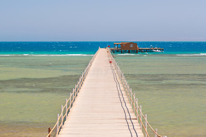Download Pier On The Beach Of Red Sea Stock Image - Image: 33761537
