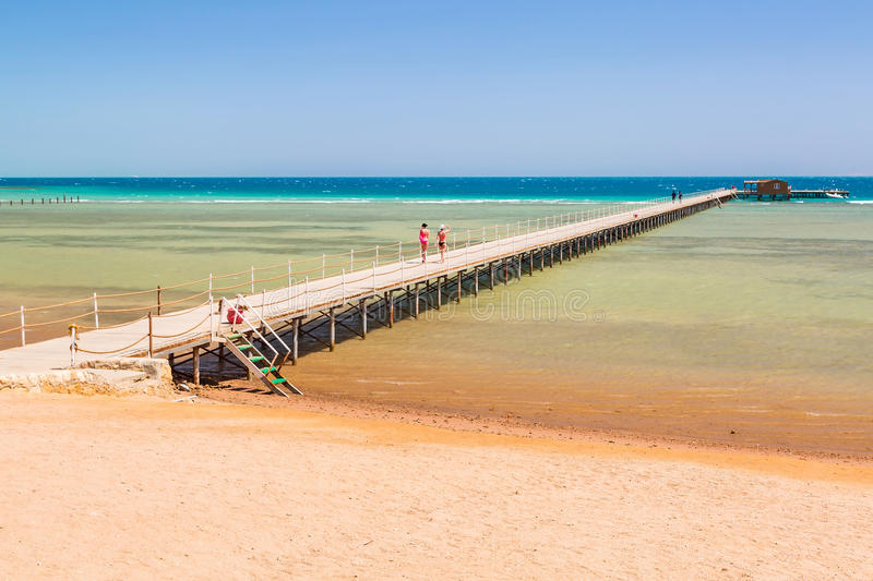 Download Pier On The Beach Of Red Sea In Hurghada Stock Photo - Image of horizontal, coast: 30801256