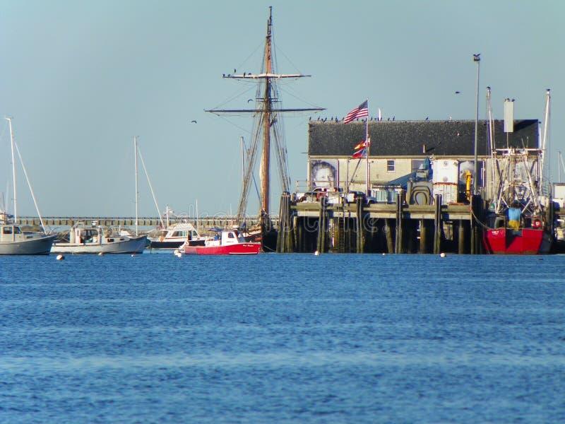 Pier bei Provincetown auf Cape Cod lizenzfreies stockbild