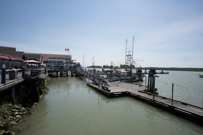 Pier bei Steveston stockbild