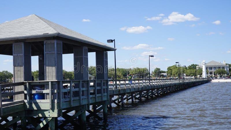 Pier in Beloxi stockbilder