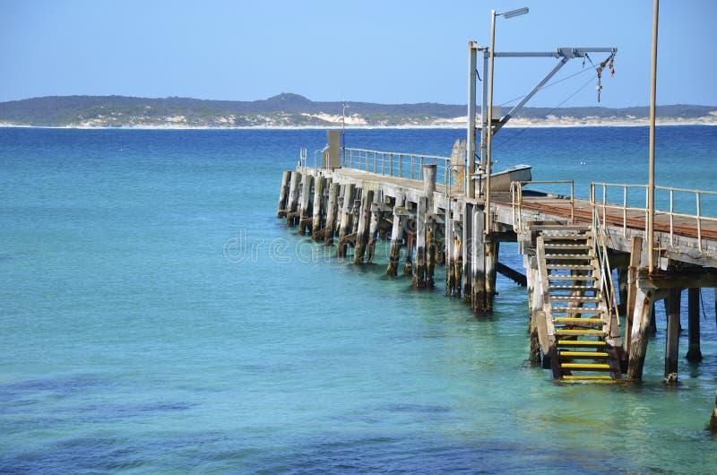 Pier bij Vivonne-Baai, Kangoeroeeiland stock foto