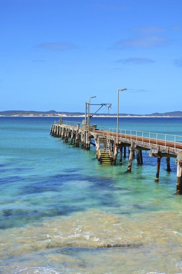 Pier bij Vivonne-Baai, Kangoeroeeiland royalty-vrije stock afbeeldingen