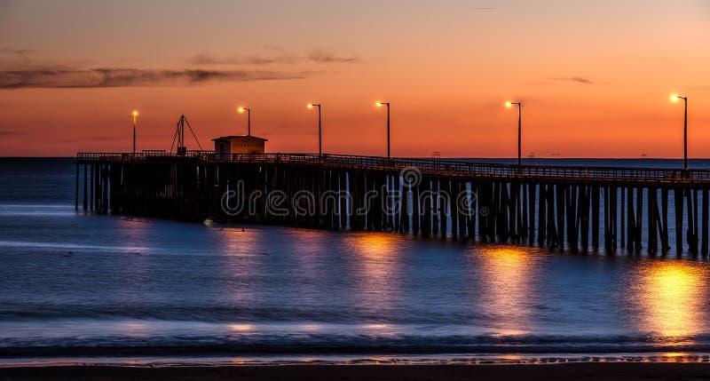 Pier, Body Of Water, Horizon, Sunset royalty free stock photo