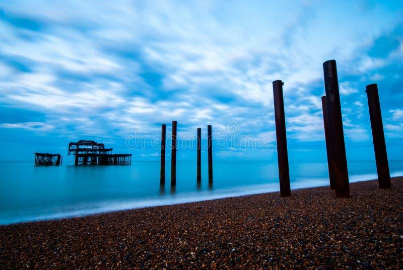Pier Brighton ad ovest & sollevato immagini stock libere da diritti