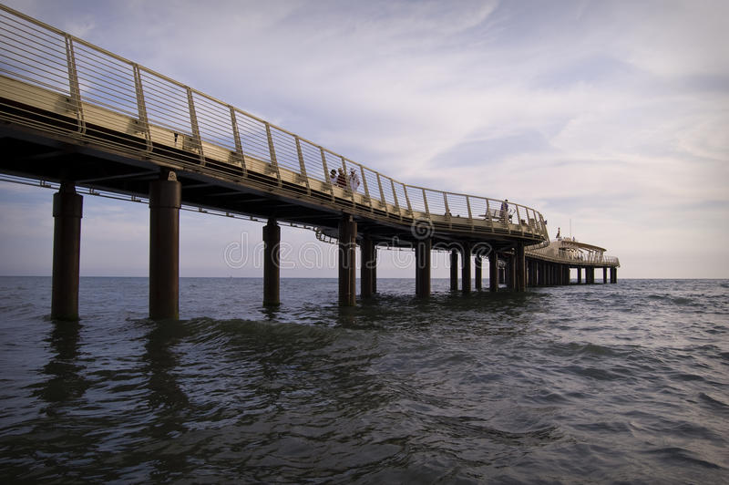 Pier at Camaiore royalty free stock photo