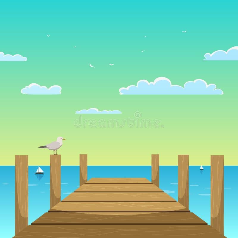 Pier stock illustration