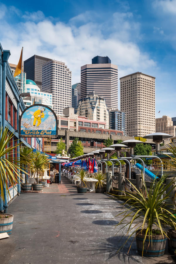 Pier At Central Waterfront In Seattle, Washington Editorial Stock Image