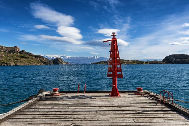 Pier in Chili Chico royalty-vrije stock afbeelding