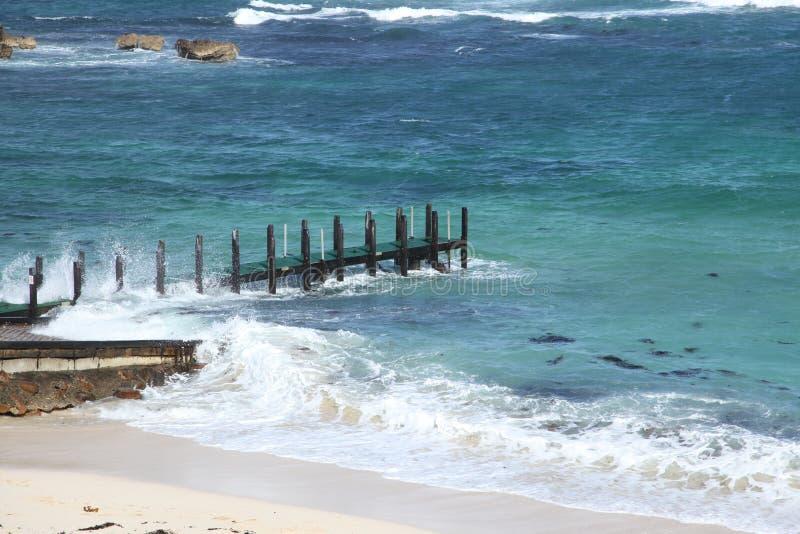 Download Pier choppy seas stock image. Image of ocean, water, surf - 11166633