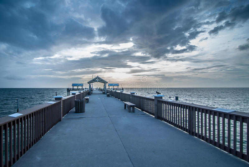 Pier 60 in Clearwater Beach. Captured this photograph from Pier 60 which is located at the Clearwater Beach, Florida stock photography