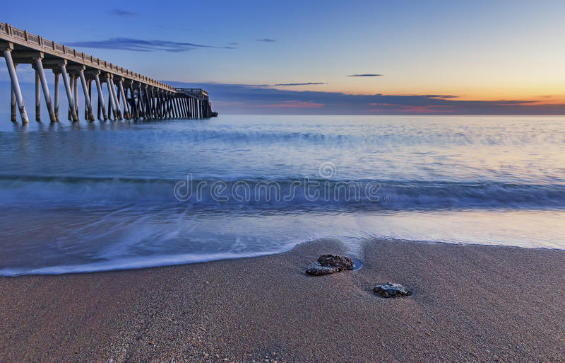 Pier on the coast of the Caspian Sea near Baku.Azerbaijan stock images