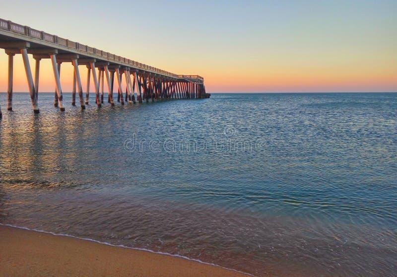 Pier on the coast of the Caspian Sea near Baku.Azerbaijan royalty free stock photos