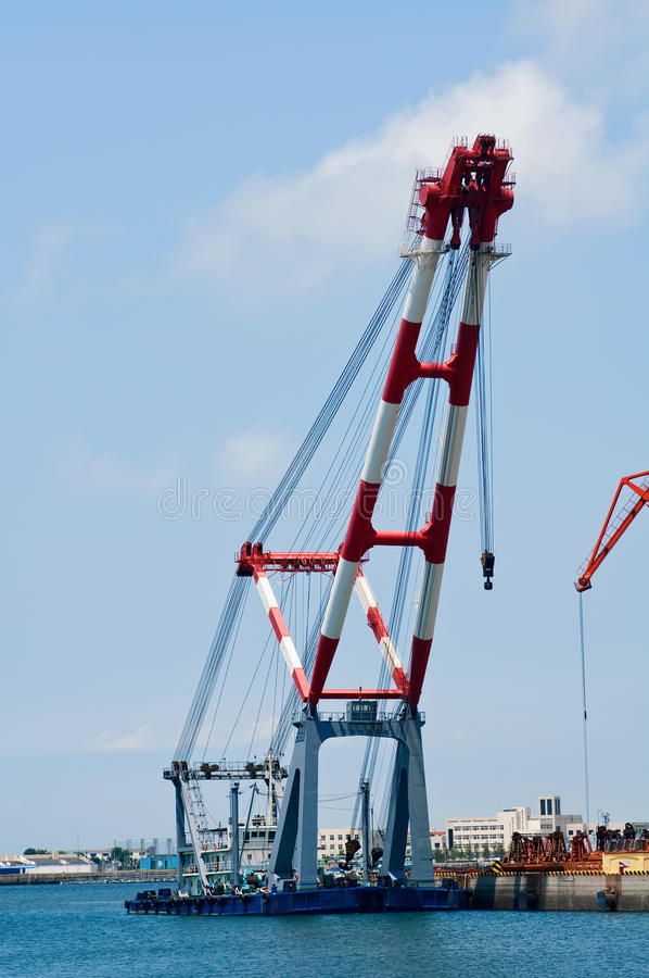 Download Pier Crane stock image. Image of port, bright, technology - 15275577