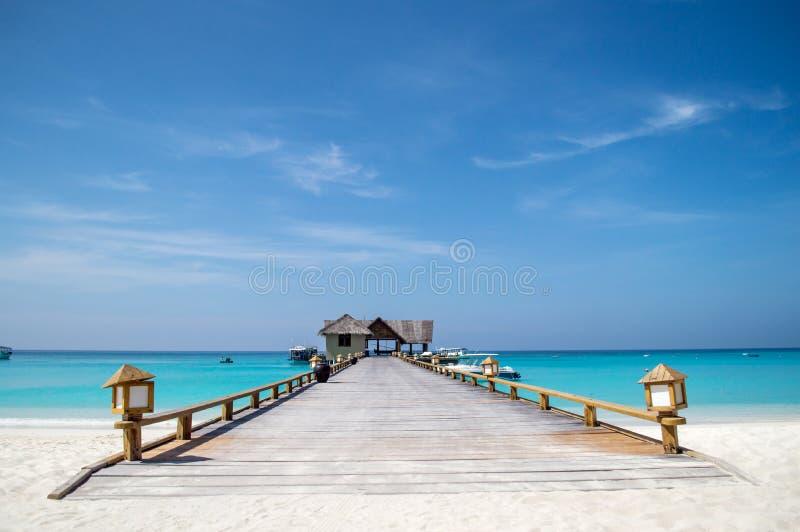 Pier - de Maldiven royalty-vrije stock foto