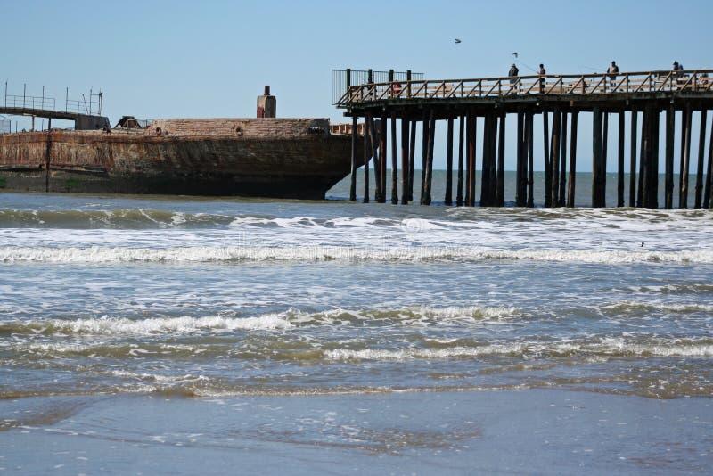 Pier in den aptos Kalifornien stockfotografie