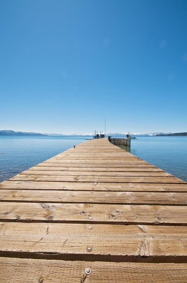 Pier an der Lake- Tahoeferienrücksortierung in Kalifornien stockbilder