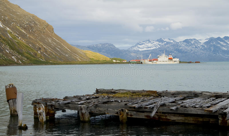 Pier des alten Whalers lizenzfreies stockbild