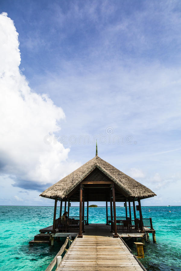 Download Pier And Dock In India Ocean, Maldives Stock Image - Image of maldives, wharf: 75986165
