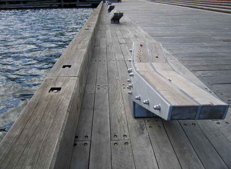 Pier at Docklands royalty free stock photos