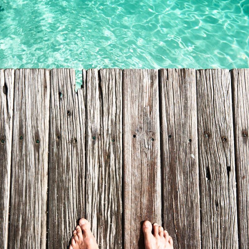 Download Pier door het overzees stock foto. Afbeelding bestaande uit maldives - 29504688