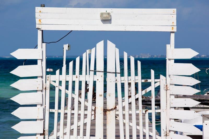 Pier gate stock photos
