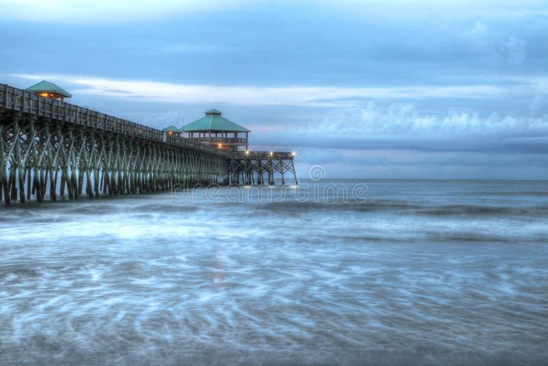 Pier at Folly Beach. Famous fishing pier at Folly Beach South Carolina stock images
