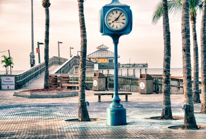 Pier in Fort Myers, Florida lizenzfreie stockfotografie