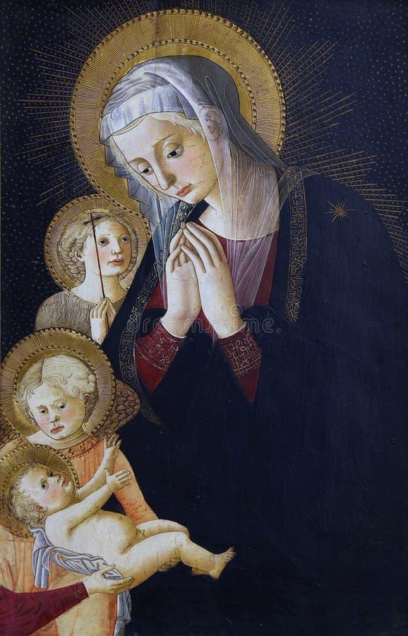 Pier Francesco Fiorentino pseudo-: Virgin e criança com St John e o anjo imagem de stock royalty free
