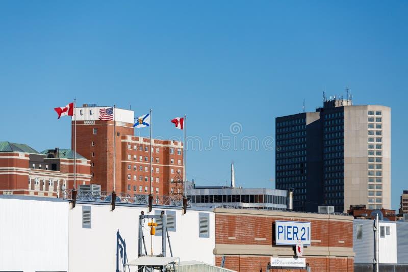 Pier 21 in Halifax lizenzfreie stockbilder