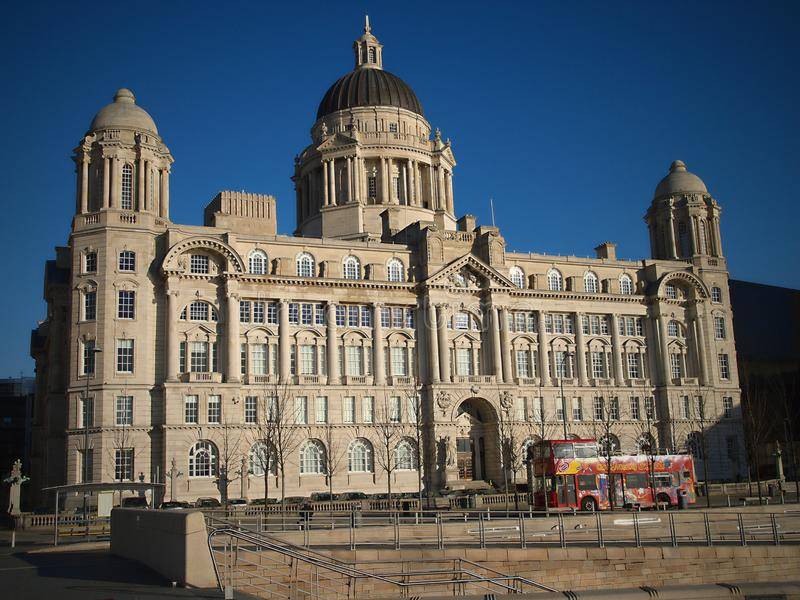 Royal Liver Building; Pier Head; Liverpool; England; UK royalty free stock photography