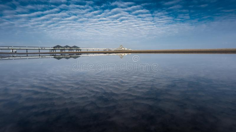 The pier of Heringsdorf on the Baltic Sea stock photos