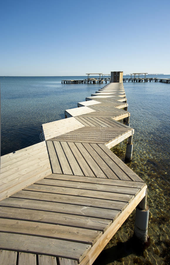 Download Pier high angle stock photo. Image of coast, sunny, costa - 23250878