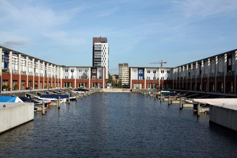 Pier houses stock image
