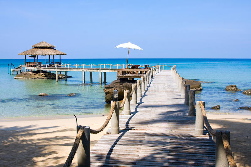 Download Pier in island Koh Kood stock photo. Image of bridge - 18897718