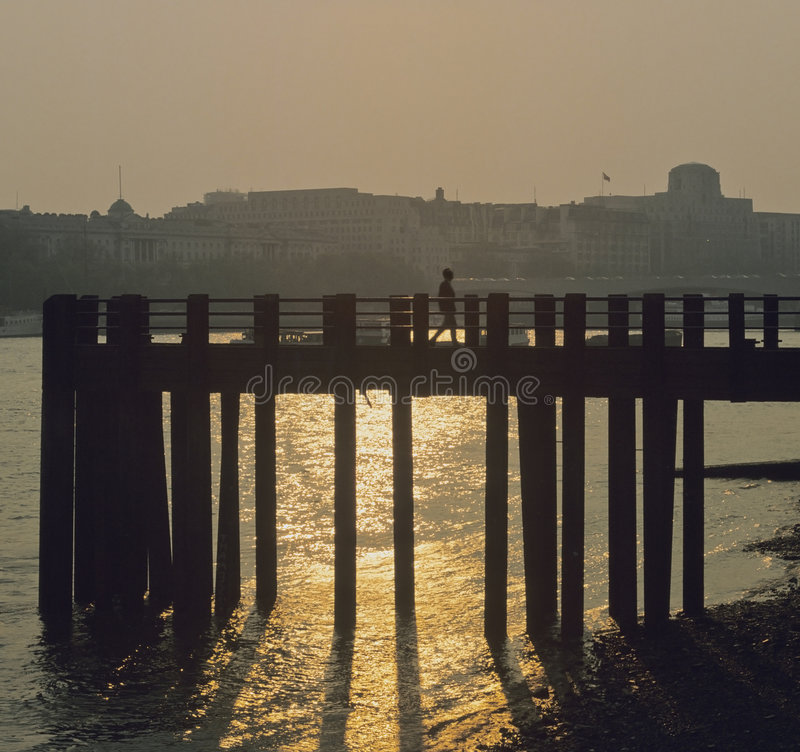 Pier jetty blackfriars river t royalty free stock image