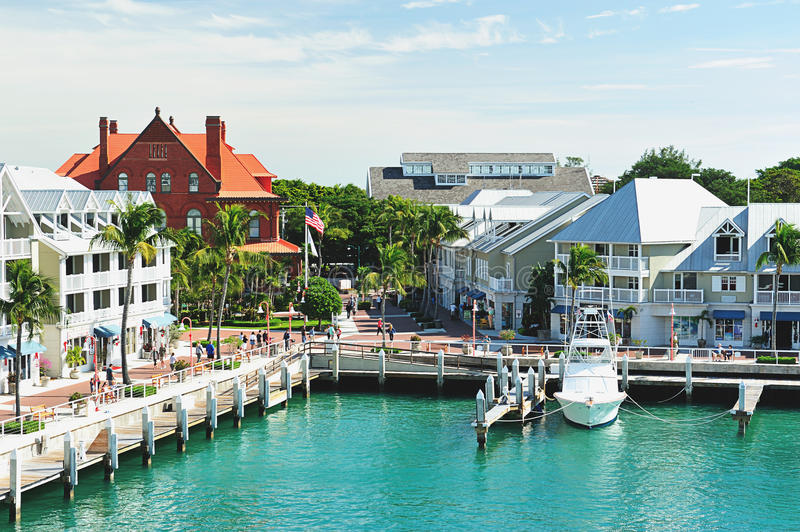 Pier in key west Florida stock image