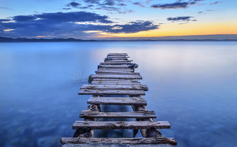 Download Pier stock image. Image of seascape, ino, sunset, pier - 40991349