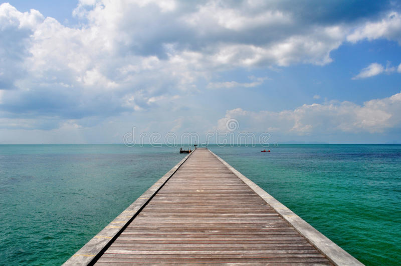 Pier on Koh Samui. Thailand. Tropical island and the sea royalty free stock photo